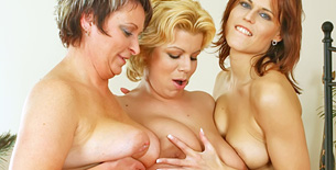 Three Milfs Rubbing Their Tits