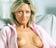 Blonde Milf With Silicone Breasts